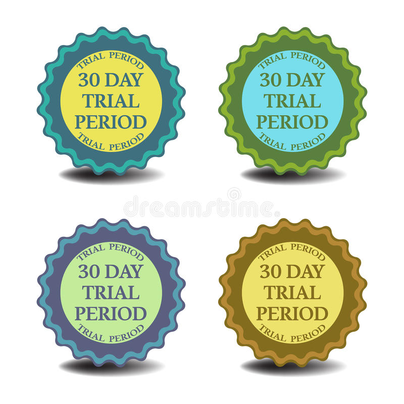 Thirty day trial period stock illustration