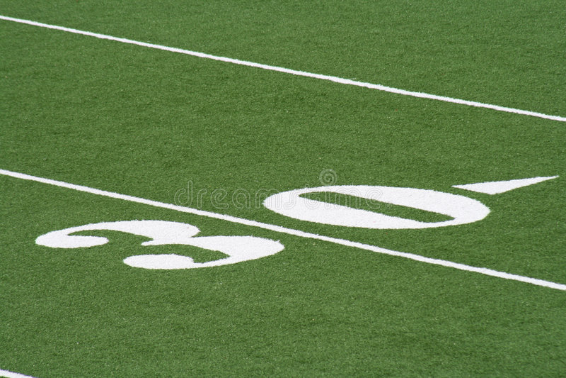 Thirty Yard Line Football stock photos