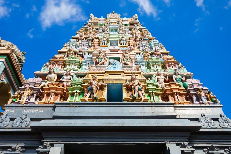 Thiruketheeswaram Kovil在Mannar 库存图片