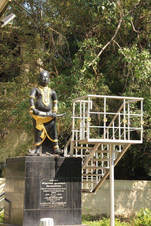 Thirumalai纳雅克国王雕象  库存照片