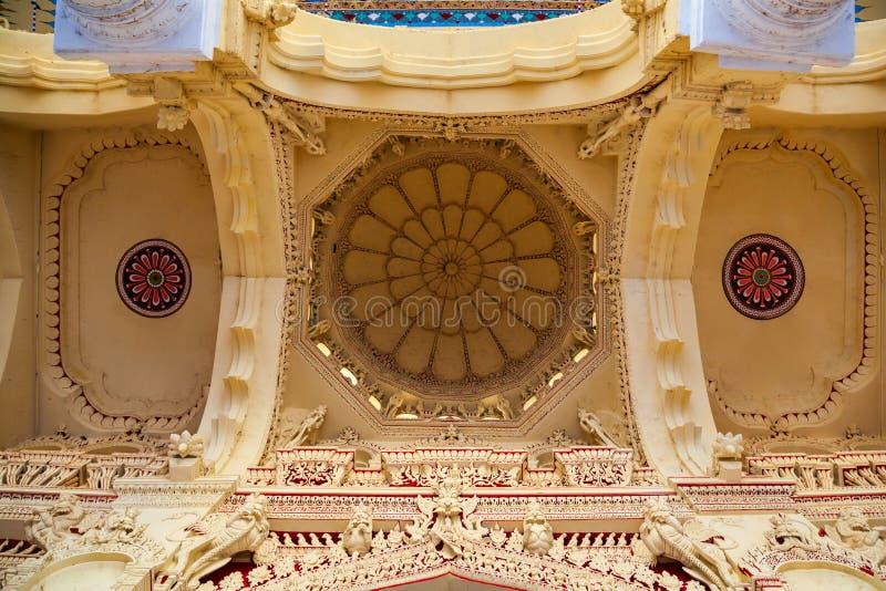 Thirumalai纳雅克宫殿在马杜赖 免版税库存图片