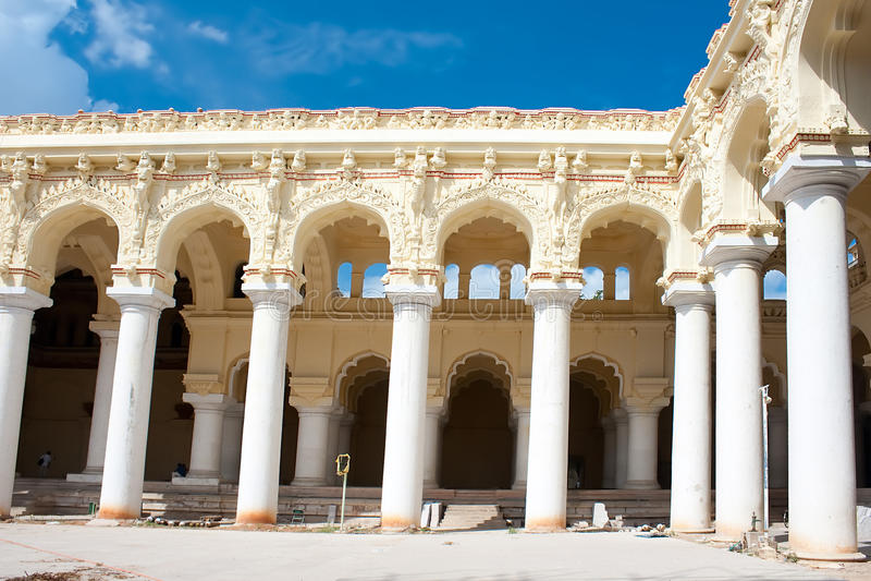 Thirumalai Nayak宫殿,马杜赖,印度, 库存照片