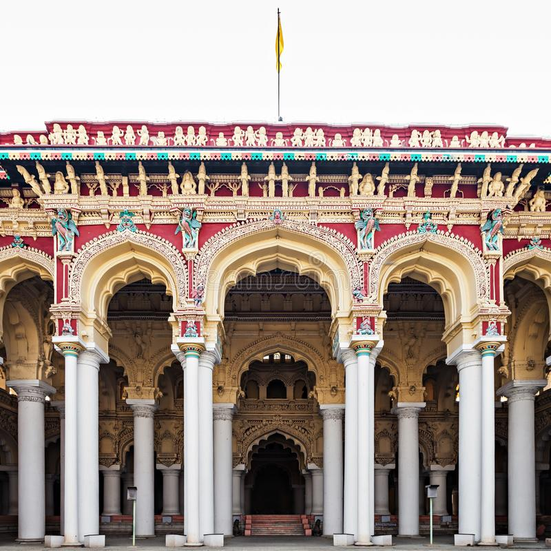 Thirumalai Nayak宫殿 免版税库存照片