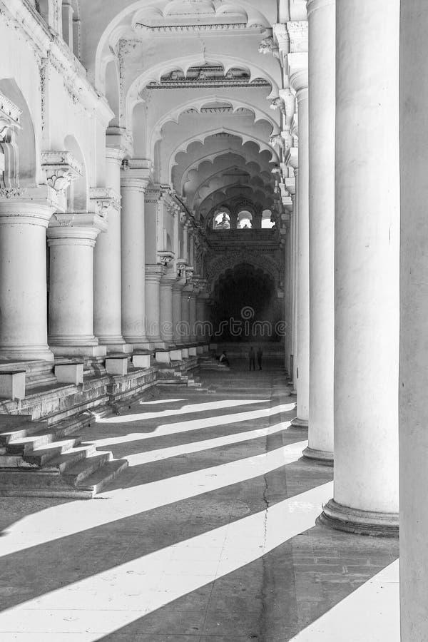 Thirumalai Nayakar Palace, Madurai, Tamil Nadu, India. Thirumalai Nayak Palace is a 17th-century palace erected in 1636 AD by King Thirumalai Nayak, a king of stock photography