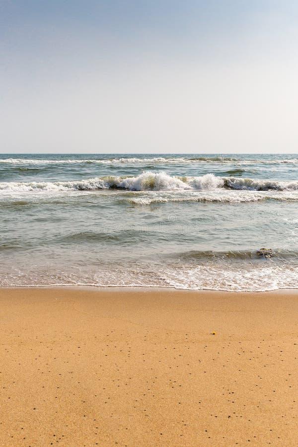 Thiruvalluvar Nagar strand, Chennai, Tamil Nadu, Indien arkivfoto