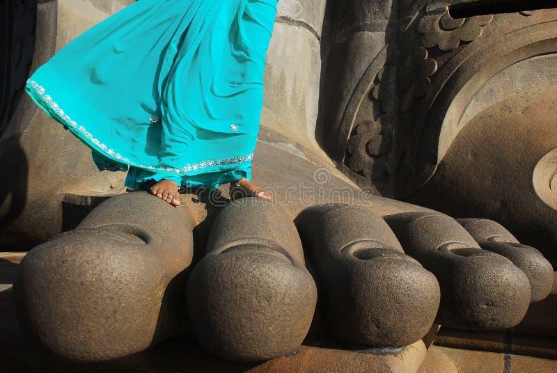Thiruvalluvar Statue`s i Kanyakumari, södra Indien royaltyfria bilder