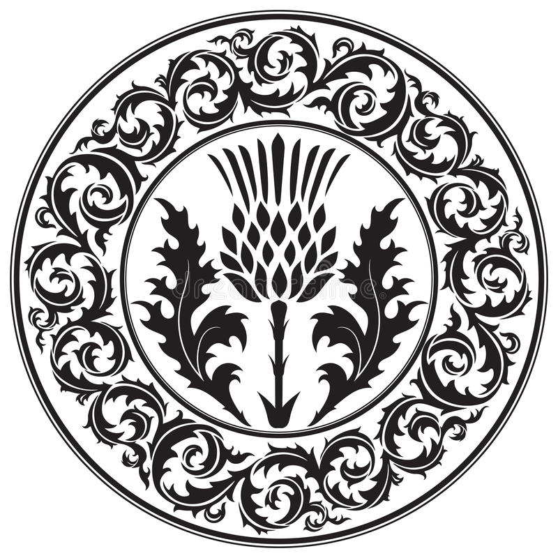 Free Thistle Flower And Ornament Round Leaf Thistle. The Symbol Of Scotland Royalty Free Stock Photos - 81404508