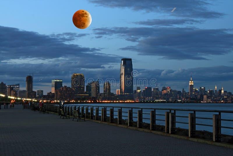 ThNew York City horisont royaltyfri bild