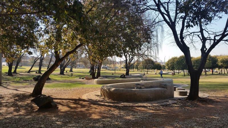 Thokoza Park Soweto. South Africa Nelson Mandela memorial mural royalty free stock photos
