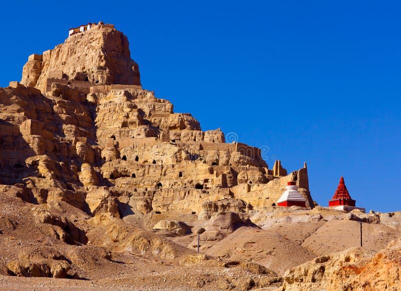 Tholling修道院在Guge王国,西藏 免版税库存照片