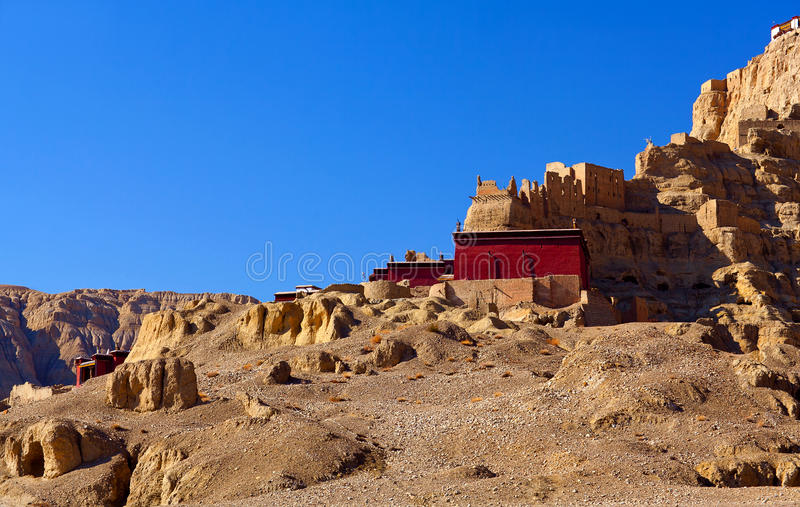 Tholling Monastery in Guge Kingdom, Tibet. Tholing Monastery, Tibet. Tholing monastery is the oldest monastery in the Ngari Prefecture of Western Tibet. It was royalty free stock photography