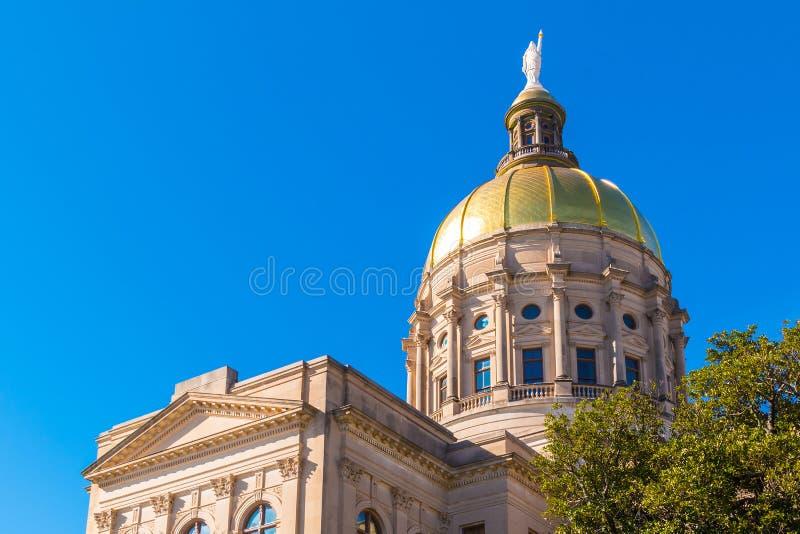 Tholobate i kopuła Gruzja Twierdzimy Capitol, Atlanta, usa zdjęcie royalty free