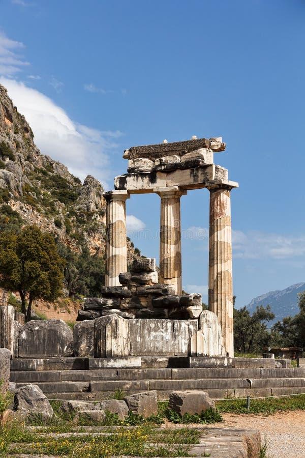 Tholos,特尔斐,希腊 免版税库存照片