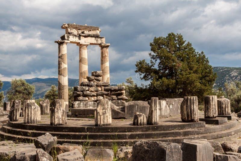 Tholos in Delphi Greece royalty-vrije stock foto