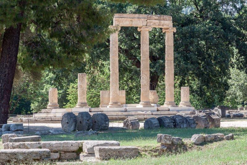 Tholos Olympia Greece fotografía de archivo