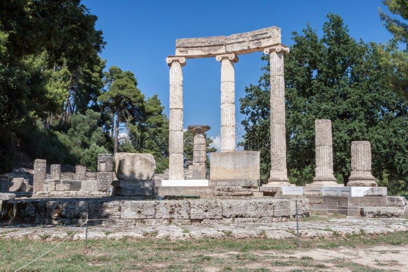Tholos Olympia Greece arkivbild