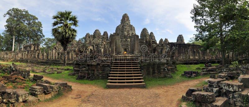 thom för angkorbayoncambodia tempel fotografering för bildbyråer