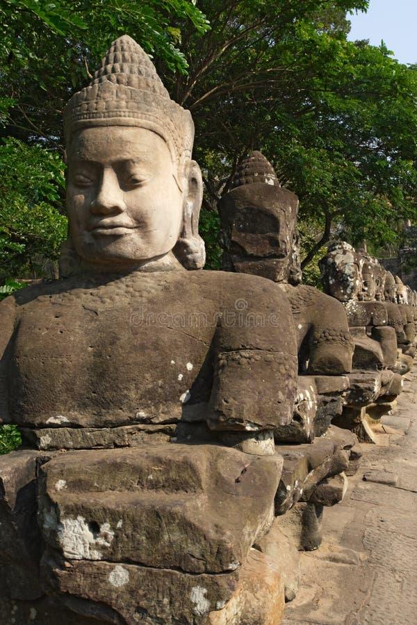 thom för angkorcambodia ingång royaltyfri fotografi