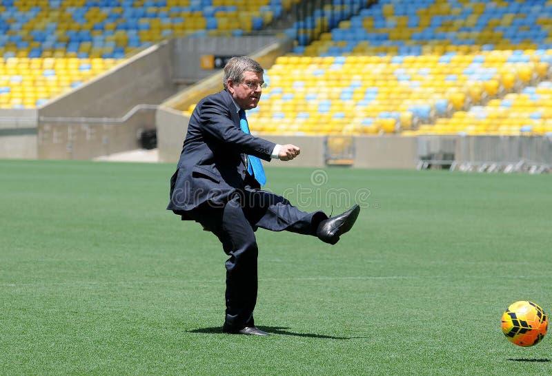 Thomas Bach - Präsident des internationalen Olympischen Komitees stockbilder
