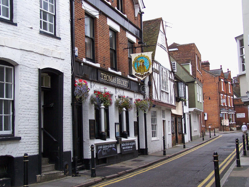 Thomas Becket bar i Canterbury royaltyfria bilder