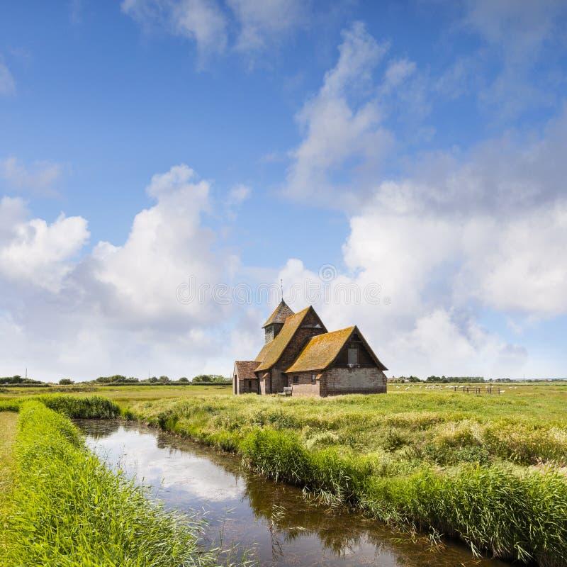 Thomas Becket Church Romney Marsh stockbilder