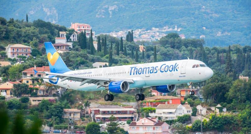Thomas Cook Airbus Landing immagine stock