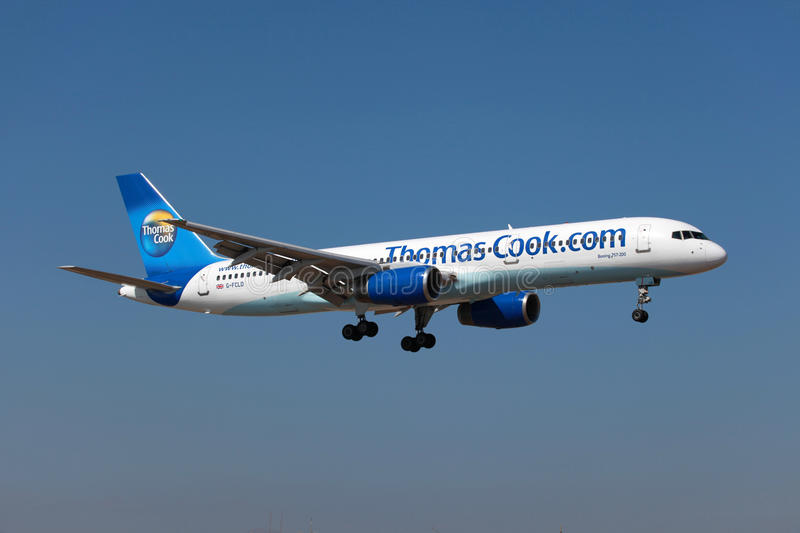 Download Thomas Cook Boeing 757-200 editorial stock image. Image of airplane - 26576124