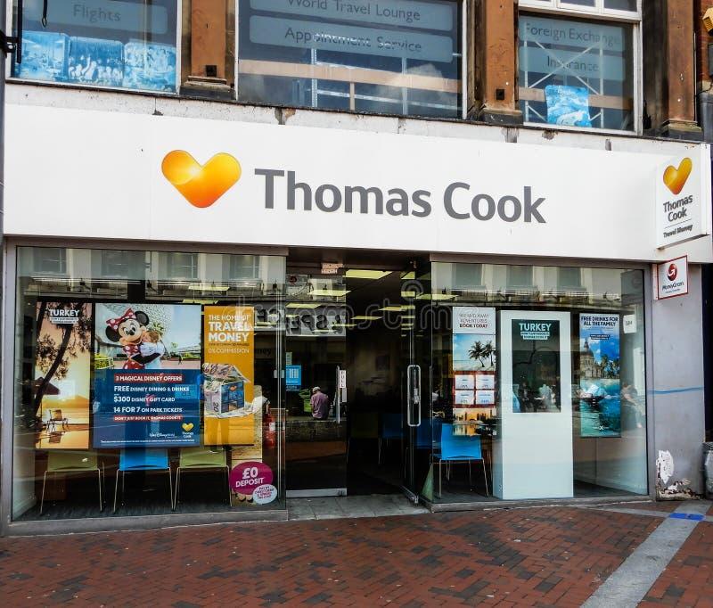 Thomas Cook Frontage imagem de stock royalty free