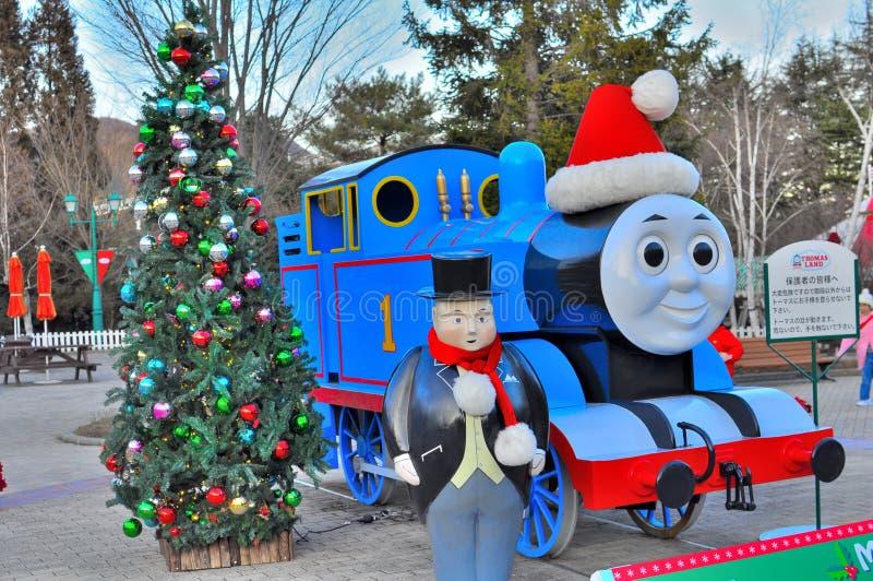 Thomas de trein royalty-vrije stock afbeeldingen