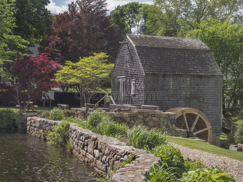 Thomas Dexter's Grist Mill, Sandwich, MA. USA. One of the oldest water mill sites existing in the United States today, Dexter's Grist Mill, has Plymouth stock photos