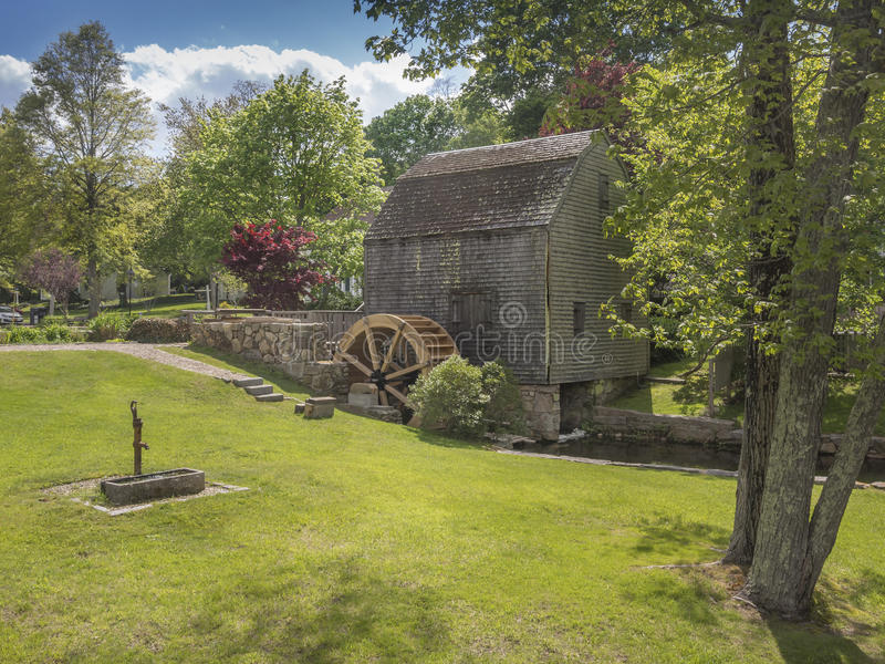 Thomas Dexter's Grist Mill, Sandwich, MA. USA. One of the oldest water mill sites existing in the United States today, Dexter's Grist Mill, has Plymouth royalty free stock photography
