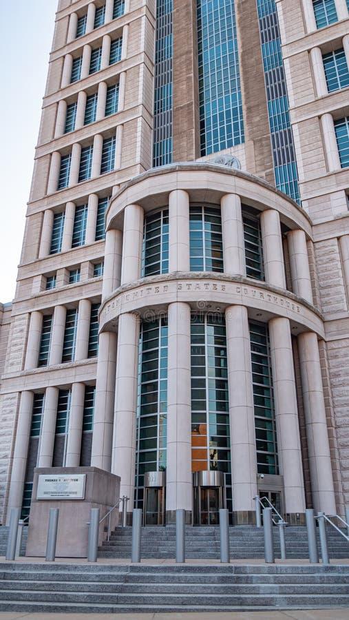 Thomas F Eagleton Förenta staternadomstolsbyggnad - ST LOUIS USA - JUNI 19, 2019 royaltyfri fotografi
