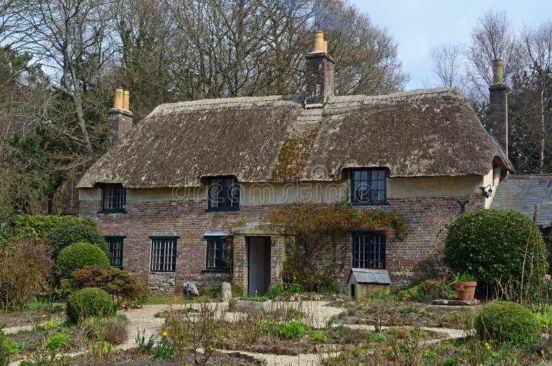 Thomas Hardy's Birthplace, Higher Bockhampton, Dorset. Thomas Hardy's Birthplace, Higher Bockhampton. Thomas Hardy was born in 1840 in Higher Bockhampton (Upper stock photography
