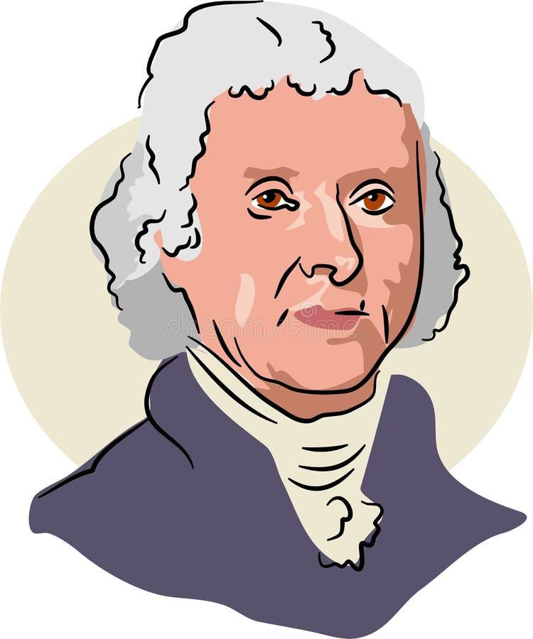 Thomas Jefferson ilustração stock