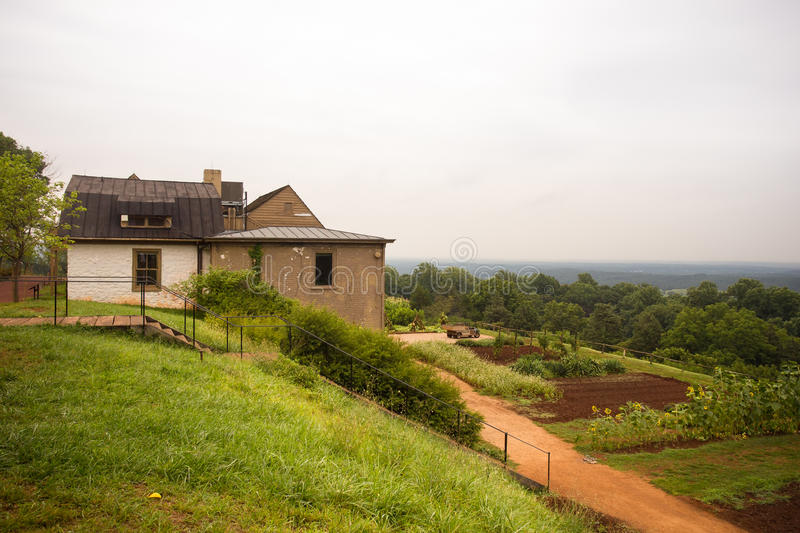 Thomas Jefferson Farm en Monticello foto de archivo libre de regalías