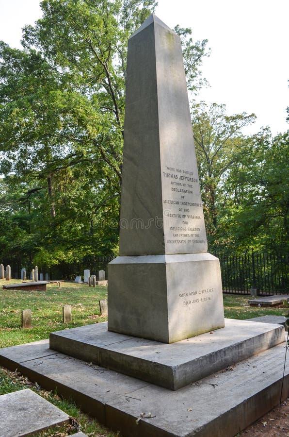 Download Thomas Jefferson Gravesite Markierung Stockfoto - Bild von geschichte, thomas: 27733310