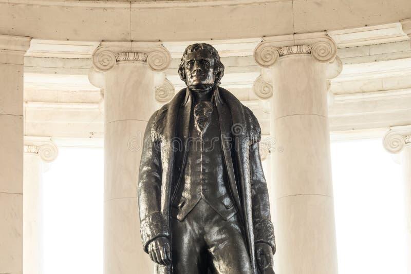 Thomas Jefferson Memorial i Washington DC arkivbild
