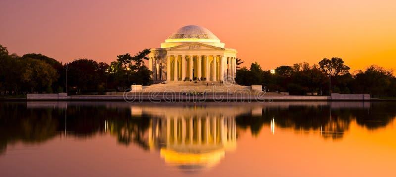 Thomas Jefferson Memorial i Washington DC, USA arkivfoto