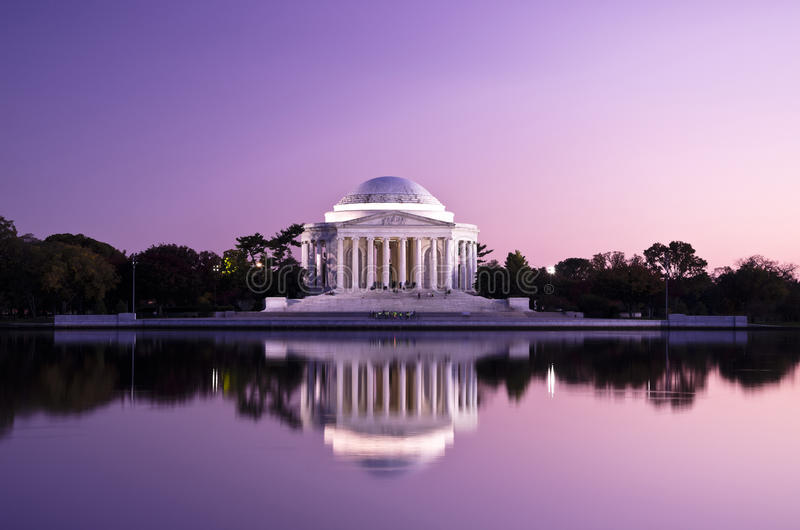 Thomas Jefferson Memorial i Washington DC, USA royaltyfri bild
