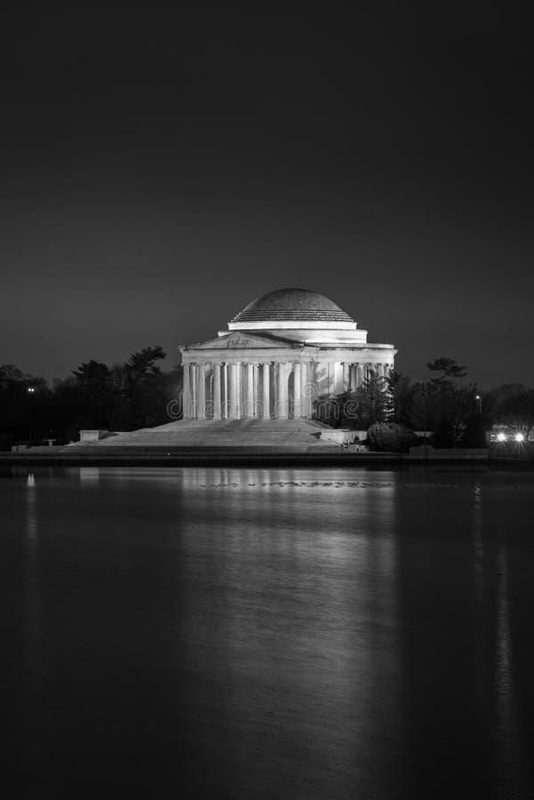 Thomas Jefferson Memorial na noite, em Washington, C.C. foto de stock royalty free