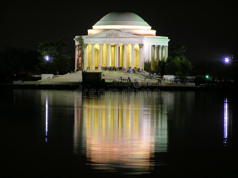 Thomas Jefferson Memorial by night, Washington stock photo