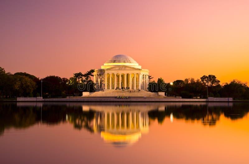 Thomas Jefferson Memorial in Washington DC, de V.S. stock afbeeldingen