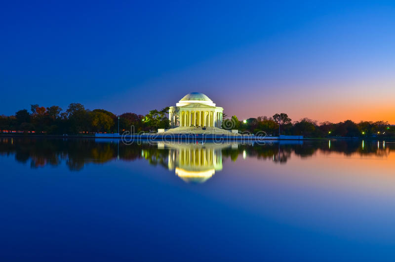 Thomas Jefferson Memorial in Washington DC, de V.S. royalty-vrije stock afbeelding