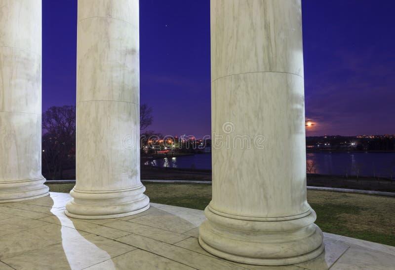 Thomas Jefferson Memorial Washington för marmorkolonner DC arkivfoto