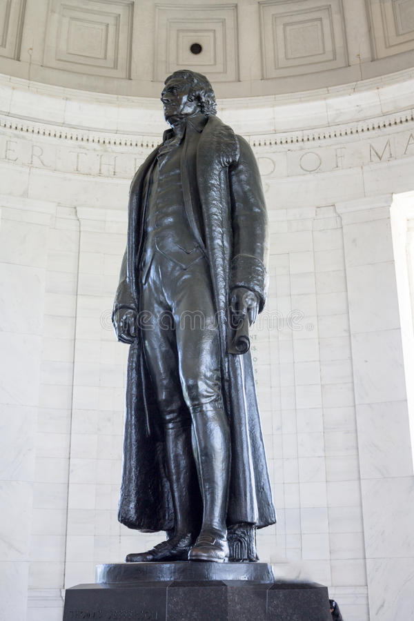 Thomas Jefferson minnesmärkeWashington DC royaltyfria foton