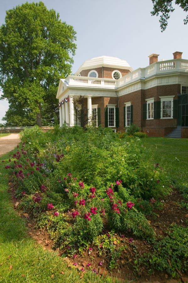 Thomas Jefferson Monticello royaltyfria foton