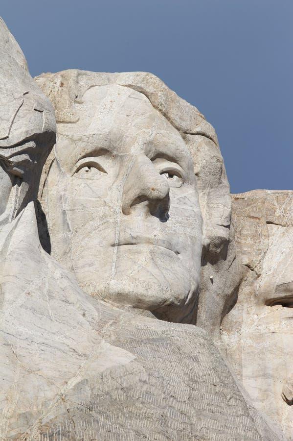 Thomas Jefferson - monumento nacional del rushmore del montaje fotografía de archivo