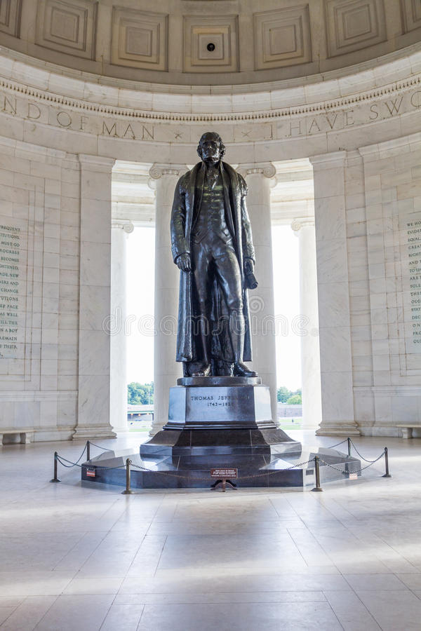 Thomas Jefferson pomnik w washington dc, usa obrazy royalty free