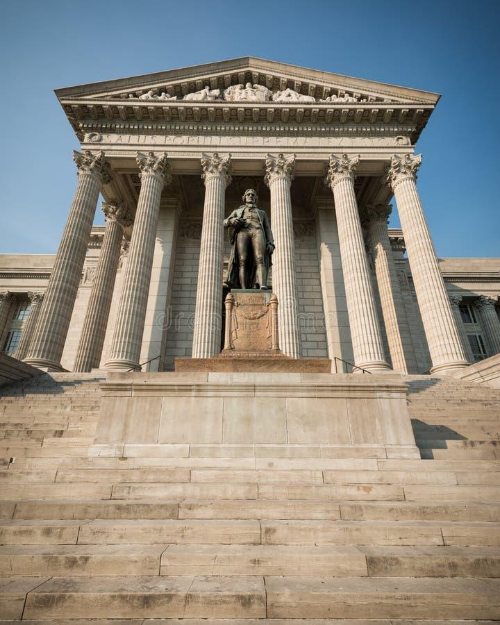 Thomas jefferson posąg obraz royalty free