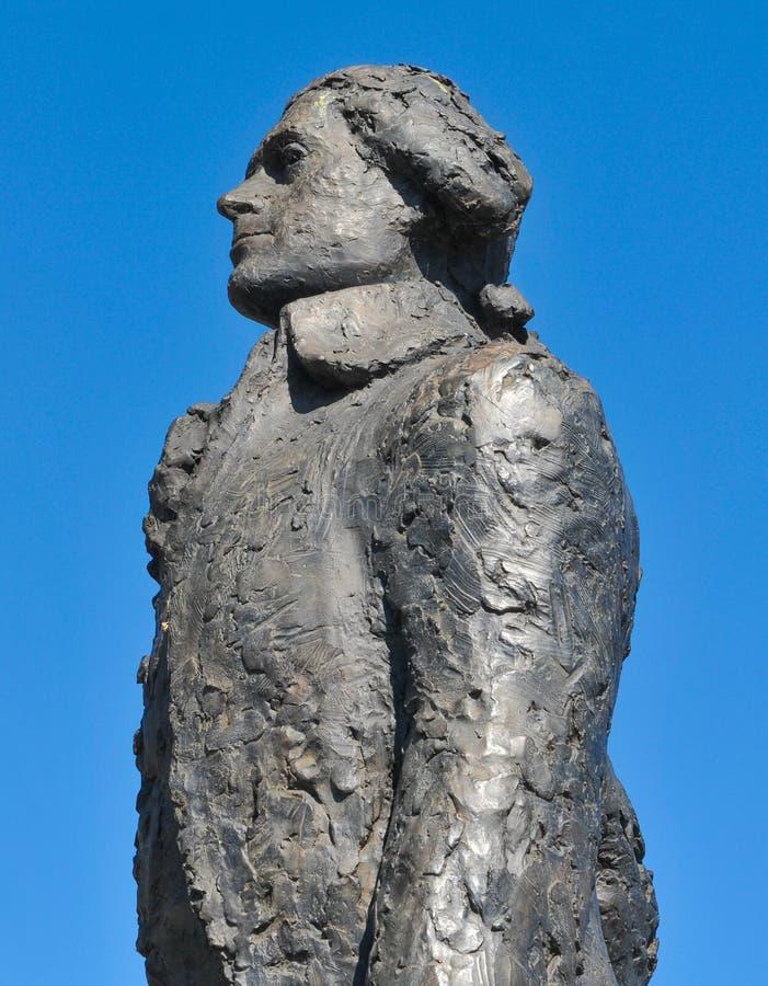 Thomas jefferson posąg obrazy stock
